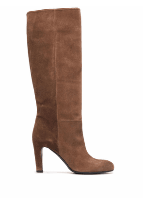 Del Carlo knee-length slip-on boots - Brown