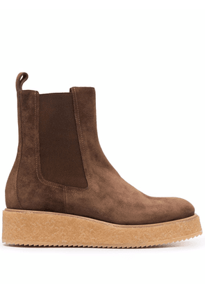 Del Carlo slip-on ankle suede boots - Brown