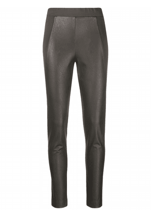 D.Exterior skinny-cut cropped trousers - Green