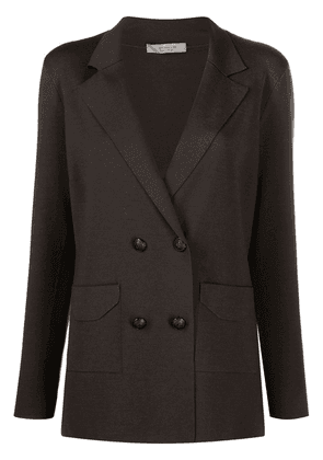 D.Exterior double-breasted fitted blazer - Green