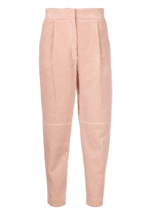 Antonelli corduroy cropped high-waist trousers - Pink