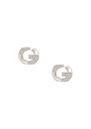 Givenchy G Chain Earrings in Silver - Metallic Silver. Size all.