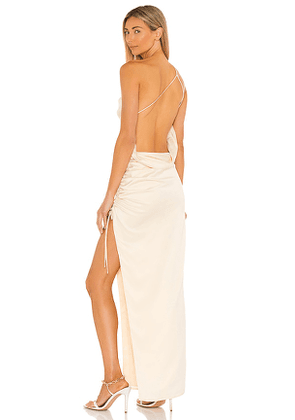 Lovers and Friends Maegan Gown in Metallic Gold. Size L, M, S, XS, XXS.