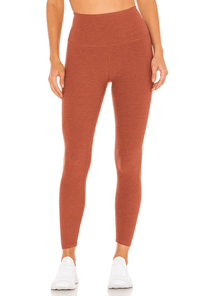 Beyond Yoga Spacedye Caught in the Midi High Waisted Legging in Rust. Size XS, S, M.