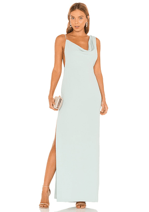 Amanda Uprichard X REVOLVE Arial Gown in Mint. Size S, XS.
