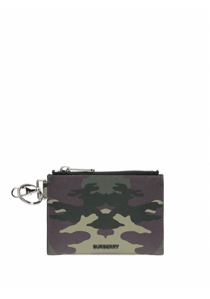 Burberry camouflage-print pouch - Green