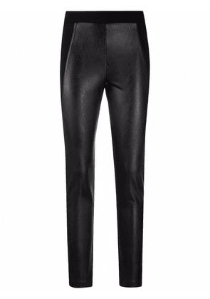 D.Exterior skinny-cut cropped trousers - Black