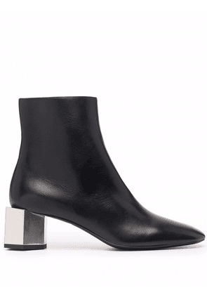 Off-White block-heel ankle boots - Black