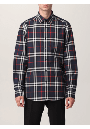 Burberry shirt in cotton poplin with check pattern