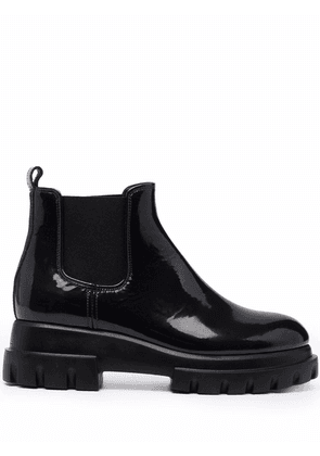 AGL Maxine patent leather chelsea boots - Black