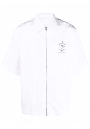 Givenchy MMW zip-up short-sleeved shirt - White