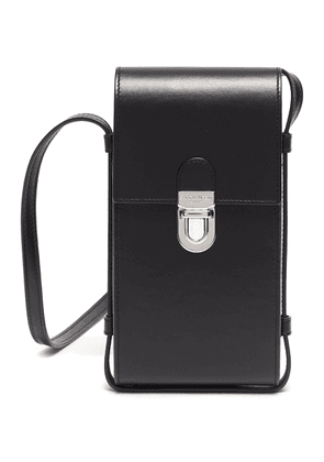 Buckled Flap Leather Phone Holder