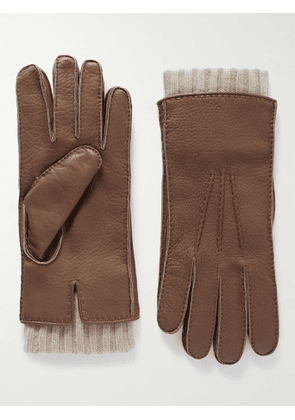 Loro Piana - Adler Cashmere-Lined Leather Gloves - Men - Brown - M
