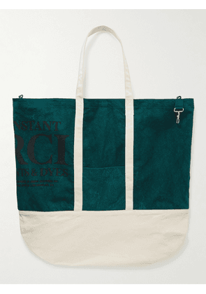 Reese Cooper® - Printed Cotton-Canvas Tote Bag - Men - Green