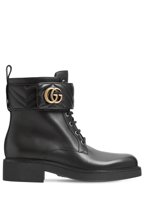25mm Marmont Leather Ankle Boots