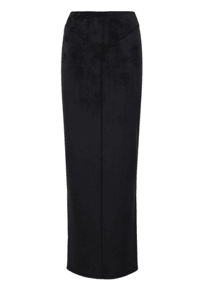 Fitted Cotton Blend Midi Skirt