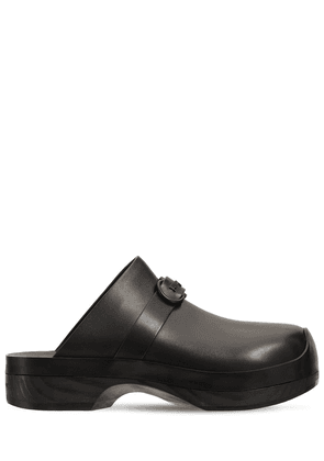 20mm Nope Leather Clogs