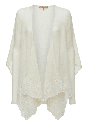 Lace Embroidered Knit Cardigan