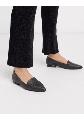 Dune hulaa pointed flat shoes in black