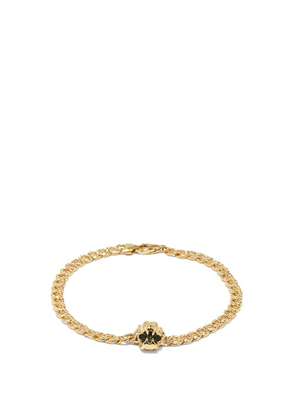 Gucci - Lion-head 18k Gold & Diopside Chain Bracelet - Womens - Green Gold