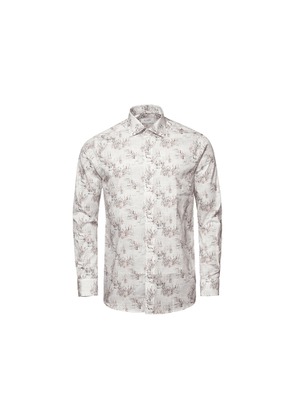 Eton Off White Limited Edition Print Contemporary Fit Shirt