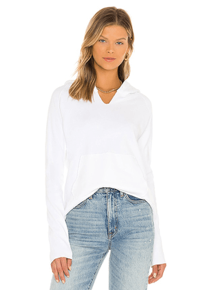 Frank & Eileen Hoodie in White. Size XS, M, L.