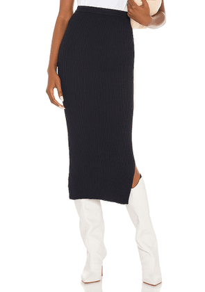 CAMI NYC Leah Rib Skirt in Navy. Size L, M, S.