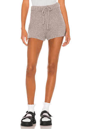 Weekend Stories Alasdair Boucle Short in Grey. Size L, M, S, XS.