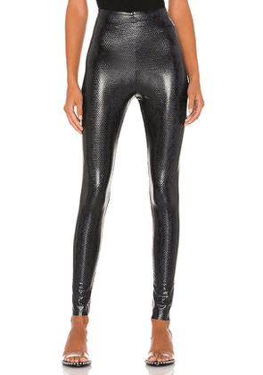 Commando Faux Leather Animal Legging in Navy. Size S.