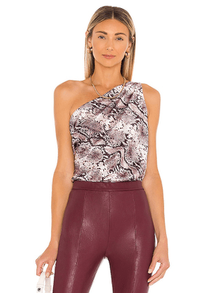 CAMI NYC Darby Bodysuit in Taupe. Size L, M.