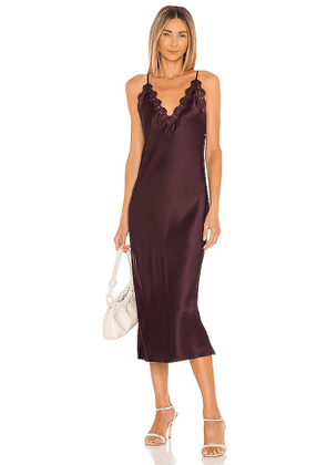 CAMI NYC Everly Dress in Purple. Size L, S.