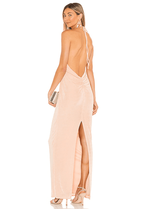 Katie May X REVOLVE Dare Me Gown in Peach. Size L, M, S.