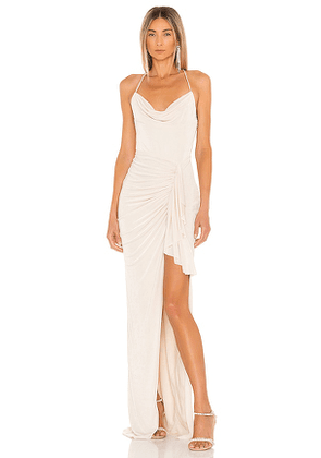 Katie May X REVOLVE So Juicy Dress in Cream. Size L, M, S.
