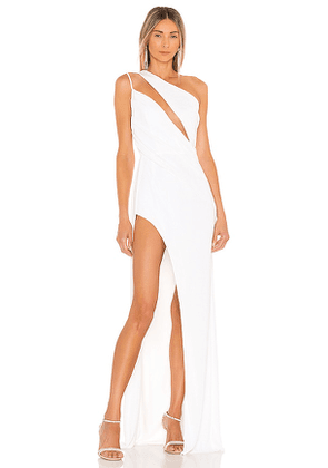 Katie May X REVOLVE A Cut Above Gown in Ivory. Size L, M, S.