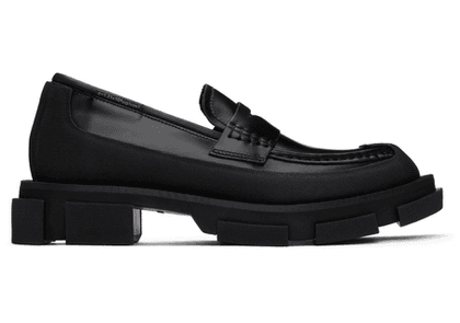 both Black Gao Loafers