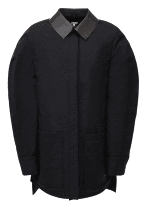 Quilted Cotton Blend Balloon Jacket