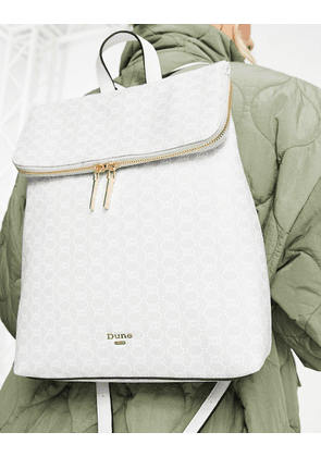Dune printed flap over backpack in grey