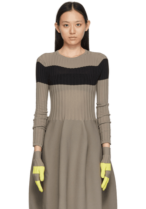 CFCL Yellow & Taupe Fluted Gloves