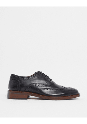 Dune lace up shoes in black leather