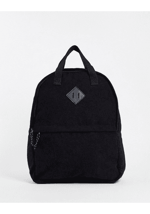ASOS DESIGN backpack with grab handle in black cord