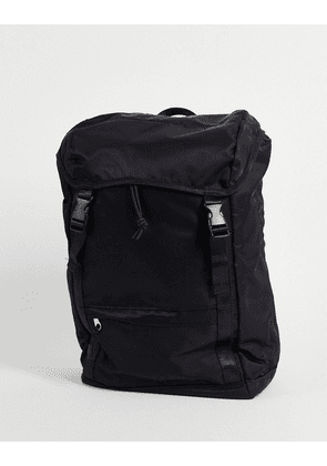ASOS DESIGN backpack with double straps in black nylon
