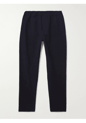 A Kind Of Guise - Cotton and Wool-Blend Seersucker Trousers - Men - Blue - IT 44