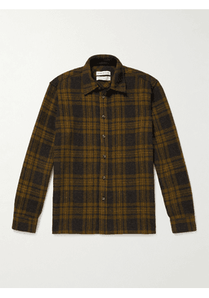 A Kind Of Guise - Dullu Checked Virgin Wool-Flannel Overshirt - Men - Brown - XS