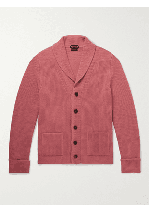 TOM FORD - Ribbed Cashmere Cardigan - Men - Pink - IT 54