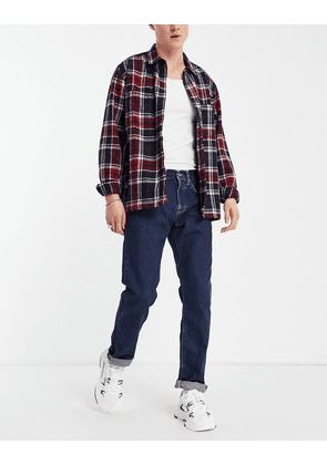 Edwin ED55 regular tapered fit jeans in mid wash-Blue