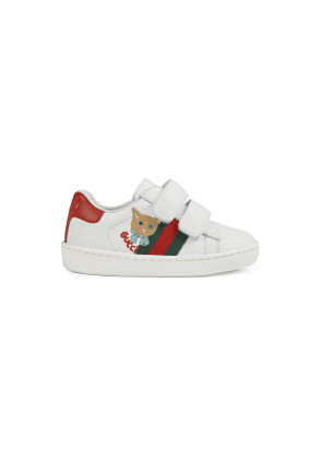 Toddler Ace sneaker with cat