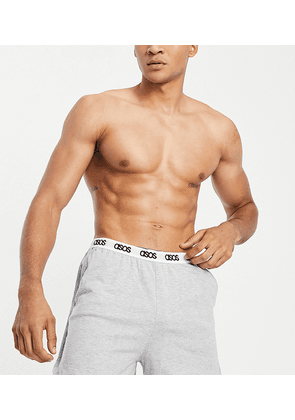 ASOS DESIGN lounge runner shorts in grey marl with branded waistband
