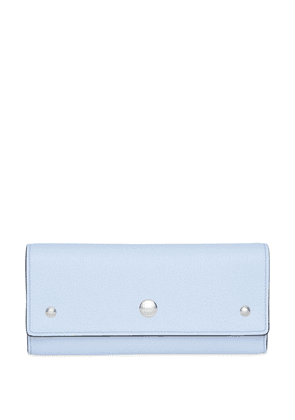 Burberry Grainy Leather Continental Wallet - Blue