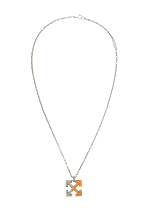 Off-White Arrows chain necklace - Silver