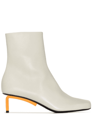 Off-White Allen 55mm leather ankle boots - Grey